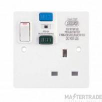 Selectric LGA 1 Gang 13 Am RCD Socket DP - Passive/Latching - Switched