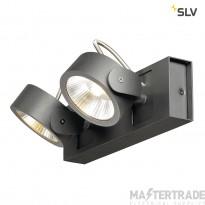 SLV 1000129 KALU LED 2 Wall and Ceiling luminaire, black, 3000K, 60?