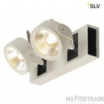 SLV 1000130 KALU LED 2 Wall and Ceiling luminaire, white/black, 3000K, 60?