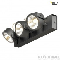 SLV 1000131 KALU LED 3 Wall and Ceiling luminaire, black, 3000K, 60?