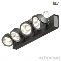 SLV 1000133 KALU LED 4 Wall and Ceiling luminaire, black, 3000K, 60?