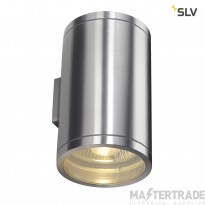 SLV 1000334 ROX WALL OUT UP/DOWN, QPAR11, Outdoor Wall luminaire, alu brushed, max. 2x50W, IP44