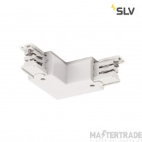 SLV 1001385 L-connector for S-TRACK 3-circuit track, earth electrode inside, traffic white