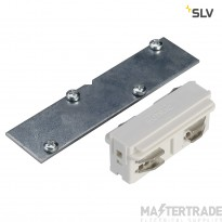 SLV 1001539 EUTRAC direct connector for 3-circuit recessed track, traffic white, electrical/mechanical