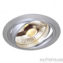 SLV 111380 NEW TRIA ES111 downlight, round, alu brushed, GU10, max. 75W, incl. leaf springs