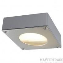 Intalite 111482 QUADRASYL 44D outdoor fitting, square, silver-grey, GX53, max. 9W