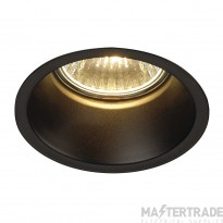 SLV 112910 HORN GU10 downlight, round, matt black, max. 50W