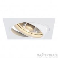 SLV 113541 NEW TRIA ES111 downlight, square, matt white, max. 75W, incl. leaf springs