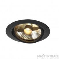 SLV 113550 NEW TRIA ES111 ROUND, matt black, max. 75W, incl. leaf springs