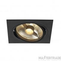 SLV 113830 NEW TRIA ES111 SQUARE, black, GU10, max. 75W, incl. leaf springs