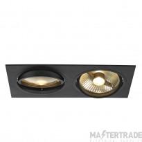SLV 113840 NEW TRIA ES111 SQUARE, black, 2x GU10, max. 2x 75W, incl. leaf springs