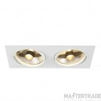 SLV 113841 NEW TRIA ES111 SQUARE, white, 2x GU10, max. 2x 75W, incl. leaf springs