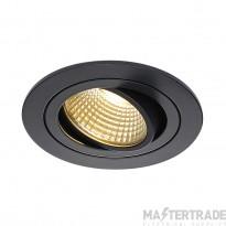 SLV 113870 NEW TRIA LED DL ROUND SET, downlight, matt black, 6W, 38? , 2700K, incl. driver,