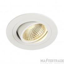 SLV 113871 NEW TRIA LED DL ROUND SET, downlight, matt white, 6W, 38? , 2700K, incl. driver,