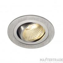 SLV 113876 NEW TRIA LED DL ROUND SET, downlight, alu brushed,6W,38?, 2700K, incl. driver, springs