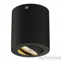 SLV 113930 TRILEDO ROUND CL surface-mounted downlight, matt black, LED, 6W, 38?,