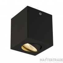 Intalite 113940 TRILEDO SQUARE CL surface-mounted downlight, matt black, LED, 6W, 38?,