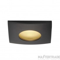 Intalite 114470 OUT 65 LED DL SQUARE SET, downlight, matt black, 9W, 38? , 3000K, incl. driver