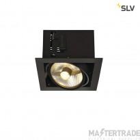 SLV 115540 KADUX 1 ES111 downlight, square , matt black, max. 50W