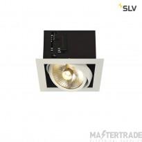 SLV 115541 KADUX 1 ES111 downlight, square , matt white, max. 50W