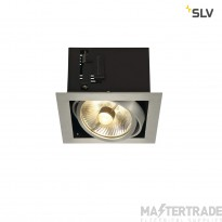 SLV 115546 KADUX 1 ES111 downlight, square , alu brushed, max. 50W