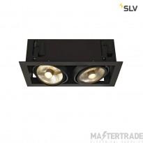 SLV 115550 KADUX 2 ES111 downlight, square , matt black, max. 2x50W