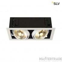 SLV 115551 KADUX 2 ES111 downlight, square , matt white, max. 2x50W