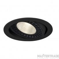 Intalite 118110 SUPROS DL recessed ceiling light, round, black, 4000lm, 3000K, SLM LED, 60? reflector
