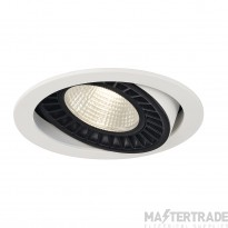 Intalite 118111 SUPROS DL recessed ceiling light, round, white, 4000lm, 3000K, SLM LED, 60? reflector
