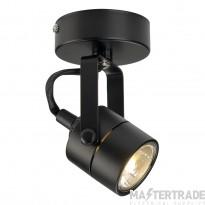 Intalite 132020 SPOT 79 240V wall and ceiling light, black, GU10, max. 50W