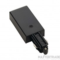 SLV 143030 Feed-in for 1-circuit  track, surface-mounted, black, earth left