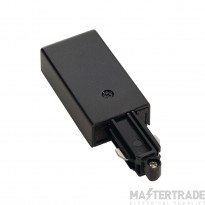 SLV 143040 Feed-in for 1-circuit track, surface-mounted, black, earth right