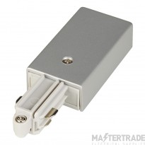 SLV 143042 Feed-in for 1-circuit track, surface-mounted, silver-grey, earth right