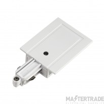 SLV 143231 Feed-in for 1-circuit track, recessed version, white, earth left