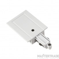 SLV 143241 Feed-in for 1-circuit track, recessed version, white, earth right