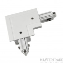 SLV 143261 Corner connector for 1-circuit track, recessed version, white, inner earth