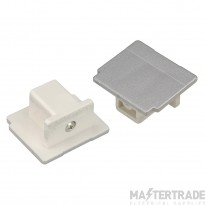 SLV 145594 EUTRAC end cap for 3-circuit track, silver-grey