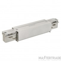SLV 145664 EUTRAC longitudinal connector, with feed-in capability, silver-grey