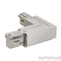 SLV 145674 EUTRAC L-connector, outer earth, silver-grey