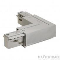 SLV 145684 EUTRAC L-connector, inner earth, silver-grey