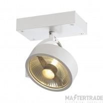 SLV 147301 KALU 1 QPAR ceiling light, matt white, ES111, max. 75W