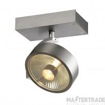 SLV 147306 KALU 1 QPAR ceiling light, alu brushed, ES111, max. 75W