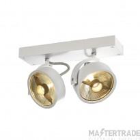 SLV 147311 KALU 2 QPAR ceiling light, matt white, 2x ES111, max. 2x 75W