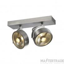 SLV 147316 KALU 2 QPAR ceiling light, alu brushed, 2x ES111, max. 2x 75W