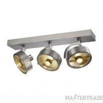 SLV 147326 KALU 3 QPAR ceiling light, alu brushed, 3x ES111, max. 3x 75W