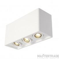 SLV 148053 PLASTRA BOX 3 ceiling light, square, white plaster, 3xGU10, max. 3x35W
