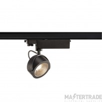 SLV 153600 KALU LED Spot for 3 circuit High-voltage Track System, 3000K, black, 24?, incl. 3 circuit adapter