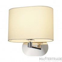 SLV 155861 SOPRANA OVAL wall light, WL-1, white textile, E27, max. 60W