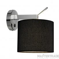 SLV 156020 TENORA wall light, WL-1, black , E27, max. 60W