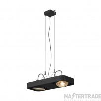 SLV 159210 AIXLIGHT R2 DUO LED GU10, QPAR111, pendant, semicircular , black